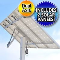 Solar Tracker Complete Kit With Solar Panels Dual Axis Solar Energy Panels Solar Panels Solar Projects