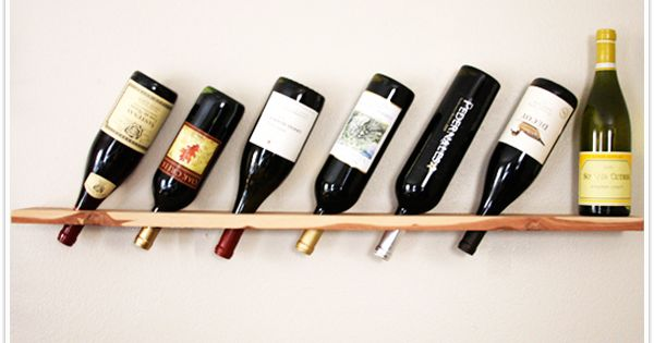 DIY, wine rack, wood plank, transformed, do it yourself, camillestyles