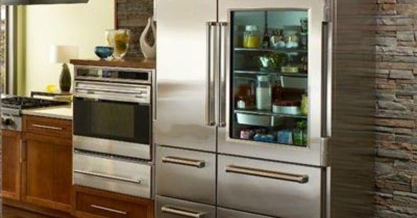 Born Of 100 Steel And A Good Bit Of Bravado The Sub Zero Pro 48 With Glass Door Refrigerator F Luxury Appliances Glass Door Refrigerator Kitchen Appliances