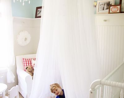 Make Your own Dreamy Canopy Tent! 3 pkgs of curtain from Ikea,