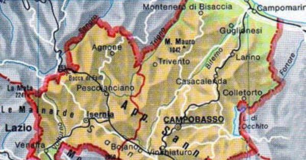 Regione Molise Cartina Fisica.Map Of Molise Tuscanyagriturismogiratola Molise Map Campobasso