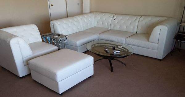 Leather sofa chair ottoman sf craigslist furniture for Craigslist raleigh sectional sofa