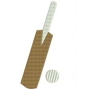 Cricket Bat And Ball Embroidery Designs Embroidery Cricket Bat