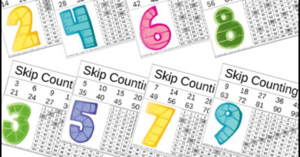 free skip counting printable numbers 2 to 10 2 different types homeschool. Black Bedroom Furniture Sets. Home Design Ideas