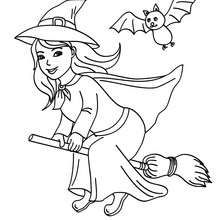 Dibujo Para Colorear Una Bruja Feliz En Su Escoba Dibujos Para Colorear Y Pintar Dibujos Para Colorear Fi Brujas De Halloween Paginas Para Colorear Dibujos