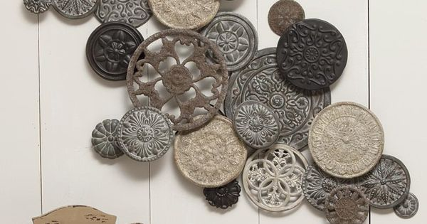 Vintage Button Wall Decor : Vintage button metal wall art i ve wanted this for like