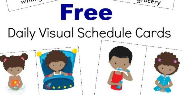Refreshing image with free printable visual schedule