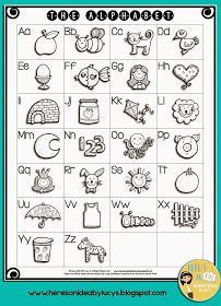 I M In A Sharing Mood Free B W Alphabet Charts English And French Versions Learn English Alphabet Alphabet Words English Alphabet