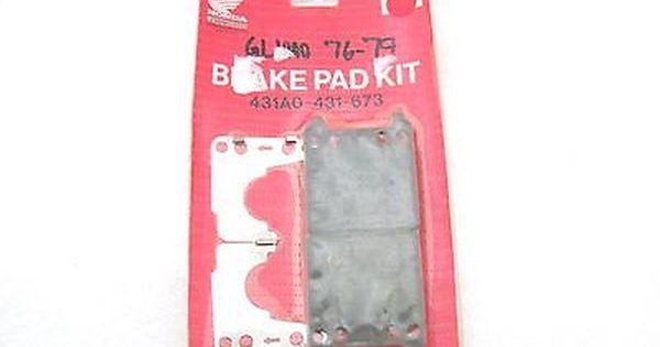 77-79 honda gl1000 goldwing oem rear brake pad kit set 431a0-431