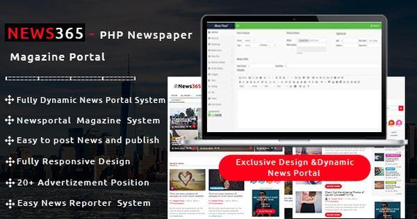 Nice News365 Php Newspaper Magazine Amp Weblog Php Script With Video Newspaper Php Scripts Magazine Blog Online Education How To Start Homeschooling