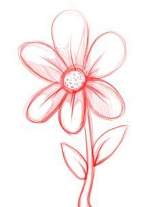 How To Draw A Simple Flower Step 4 Flower Art Drawing Simple Flower Drawing Flower Drawing