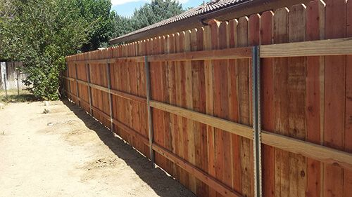 Wood Fence Post Options Metal Fence Posts Wooden Fence Metal