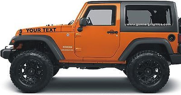 Details About Jeep Hood Decals Custom Made Fits Wrangler