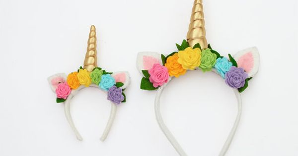 Matching Doll and Girl Unicorn Horn Headband by ...