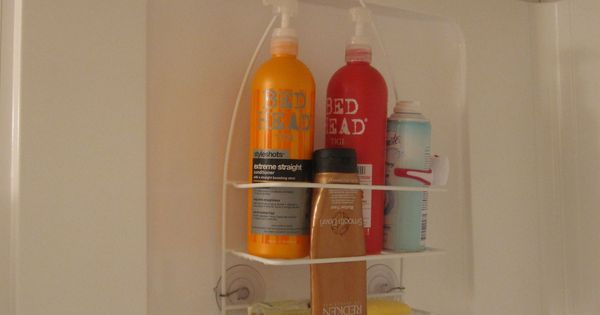 Hang a shower caddy on the opposite side of the shower with