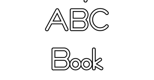 Abc Book Cover Printable : Free printable abc book covers coloring pages
