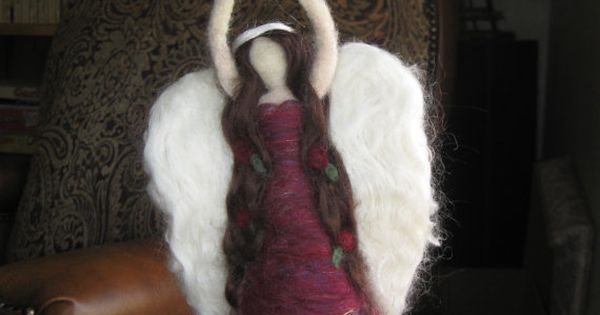 Needle Felted Angel Christmas Tree Topper Waldorf By
