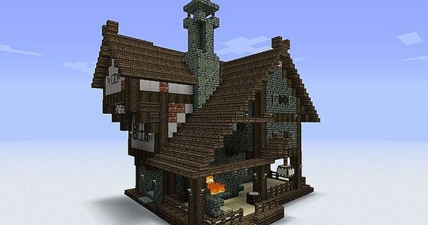 I like the central chimney. Minecraft Inspiration