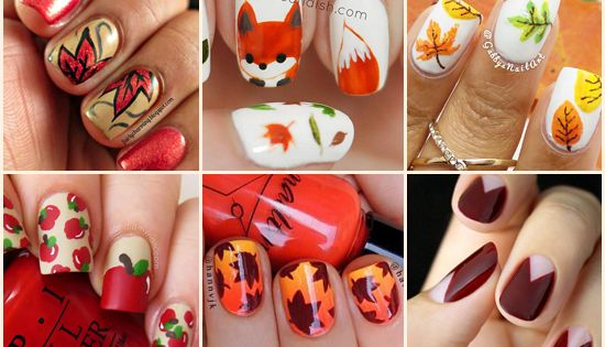 Feast your eyes on this huge collection of Fall Nail Art Ideas!