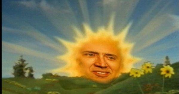 Nicolas Cage As Baby Sun Nicholas Cage Face Nicholas Cage Meme Nicolas Cage