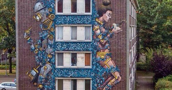 In antwerp belgium by pixel pancho art everywhere for Graffitis y murales callejeros