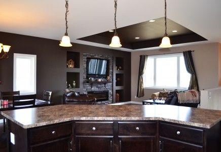 Open Concept Kitchen Living Dining Same Set
