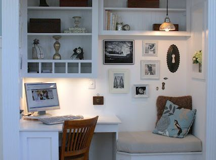 Closet into home office for the home pinterest nook - Amenagement petit espace ikea ...
