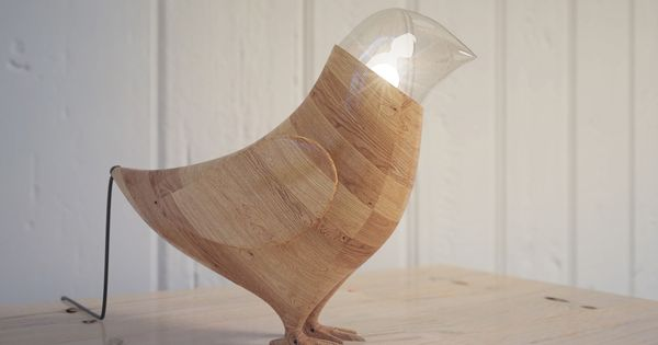 Marina's Birds Lamp by Fajno Design