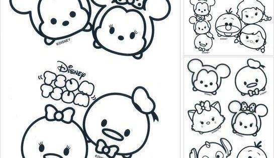 Print Disney Tsum Tsum Coloring Pages