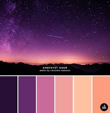 Peach And Purple Color Combination Color Palette Color