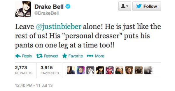 Drake Bell Bashed Justin Bieber On Twitter Again Drake Bell Twitter Funny Drake And Josh