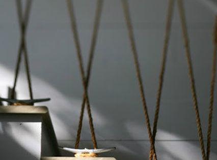 home garden 35 id es pour mettre de la corde dans sa d co garde fou pinterest gardens. Black Bedroom Furniture Sets. Home Design Ideas