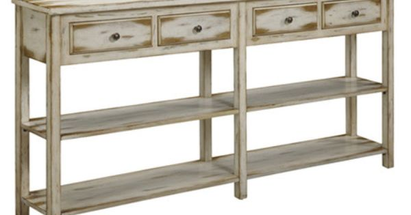 Found it at wayfair bylot console table in antique white for Wayfair comedores