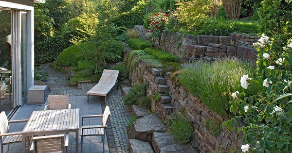 gartengestaltung hanglage modern 1 nur drau en pinterest gardens landscaping and small. Black Bedroom Furniture Sets. Home Design Ideas