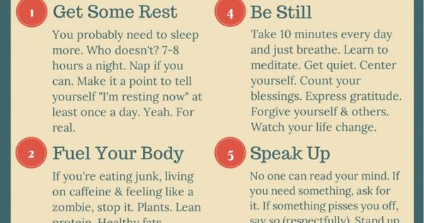 Self Care Cheat Sheet - Cover all the bases by developing routines