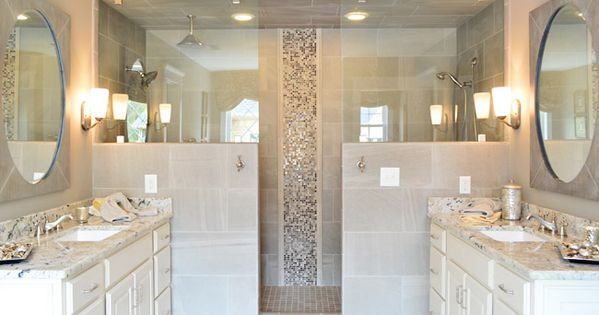 I like this shower idea -- the top is glass and the