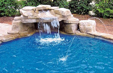 Ten Affordable Swimming Pool Grotto Designs In Pictures For Your Backyard Pool Waterfall Pool Water Features Swimming Pool Waterfall