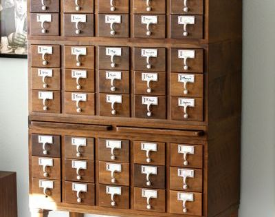 Vintage Card Catalog vintage library libraries librarians cardcatalog