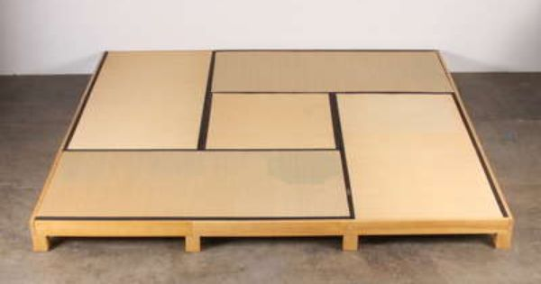 Low platform tatami bed tatami bed washitsu and for Futon giapponese ikea