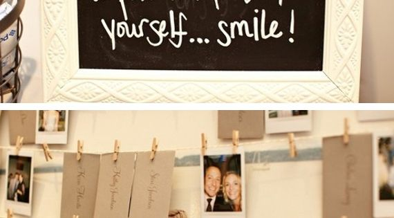 Wedding Guest Book idea - Polaroid picture to put in place of