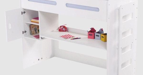 Lit mezzanine enfant pour combin volutif combibed blanc bureaux et mezz - Lit mezzanine vertbaudet ...