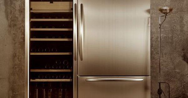 Ensemble Combine Carrosse Refrigerateur Et Cave A Vin De Kitchenaid Cave A Vin Armoire A Vin Aide Culinaire
