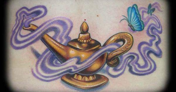 Genie lamp tattoo off the map tattoo tattoos for Aladin tattoo salon