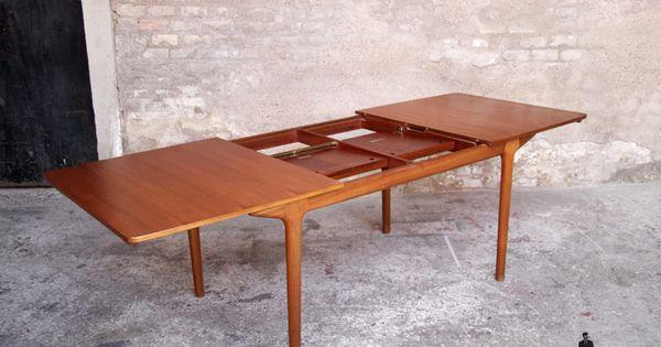 gentlemen designers mobilier vintage made in france table vintage en teck mcintosh 2. Black Bedroom Furniture Sets. Home Design Ideas
