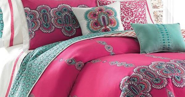 Love This Bright Magenta And Turquoise Mandala Print
