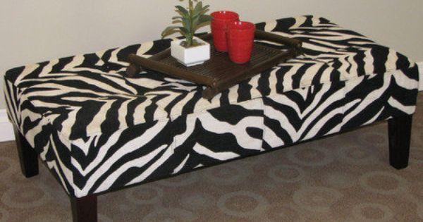Tebogo Zebra Coffee Table Or Ottoman Zebra Print Pinterest Zebras Coffee Tables And Ottomans
