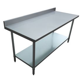 Excalibur 34 In X 72 In Stainless Steel Commercial Food Prep Table Et184b30 Stainless Steel Kitchen Table Stainless Steel Work Table Stainless Steel Prep Table