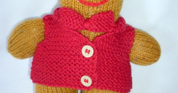 Gingerbread softie. Knitted gingerbread man. Knitted gingerbread toy. Hand kn...