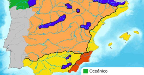 Pin En 06 Los Dominios Climáticos En España