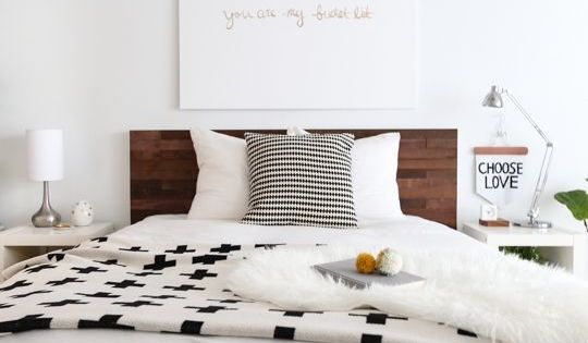 "DIY headboard | Sugar & Cloth ""You are my bucket list"""